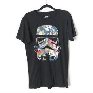 Star Wars Black Floral Storm Trooper Graphic Top